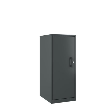 Space Solutions 3 Shelf Personal Storage Cabinet, Locking, Charcoal Lock Storage Cabinet