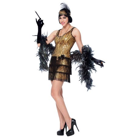 Gold Broadway Flapper Womens Costume
