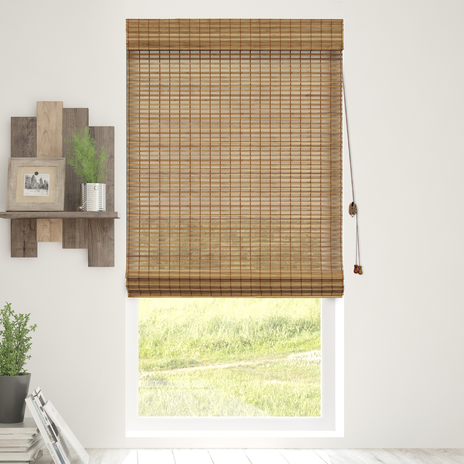 Chicology Bamboo Roman Shades / Wood Window Blind, Bamboo, Privacy