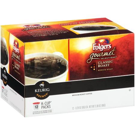 Folgers Classic Medium Roast Coffee K Cup Pods   12 Ct3 38 Oz