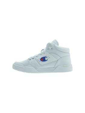 Champion 3 On 3 Mens White Leather Lace Up Sneakers Shoes
