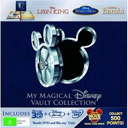 My Magical Disney Vault Collection - 8-Disc Box Set ( The Lion King / Beauty and the Beast / Bambi ) ( King of the Jungle / Beauty & the