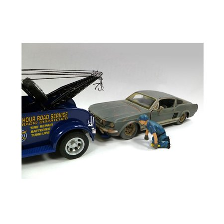 Tow Truck Driver/Operator Scott Figure For 1:24 Scale Diecast Car Models by American - Model Car Diorama