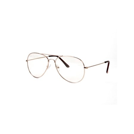 Gravity Shades New Non-Prescription Premium Aviator Clear Lens Glasses (Where To Find Non Prescription Glasses)