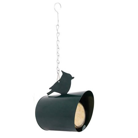 Metal Peanut Feeder - Peanut Butter House Holder Black Metal Adorned with Bird Wildbirds Feeder
