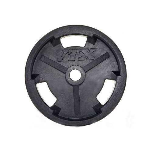 VTX by Troy Barbell 2 lbs Olympic Rubber Grip Plate (Set of 2)