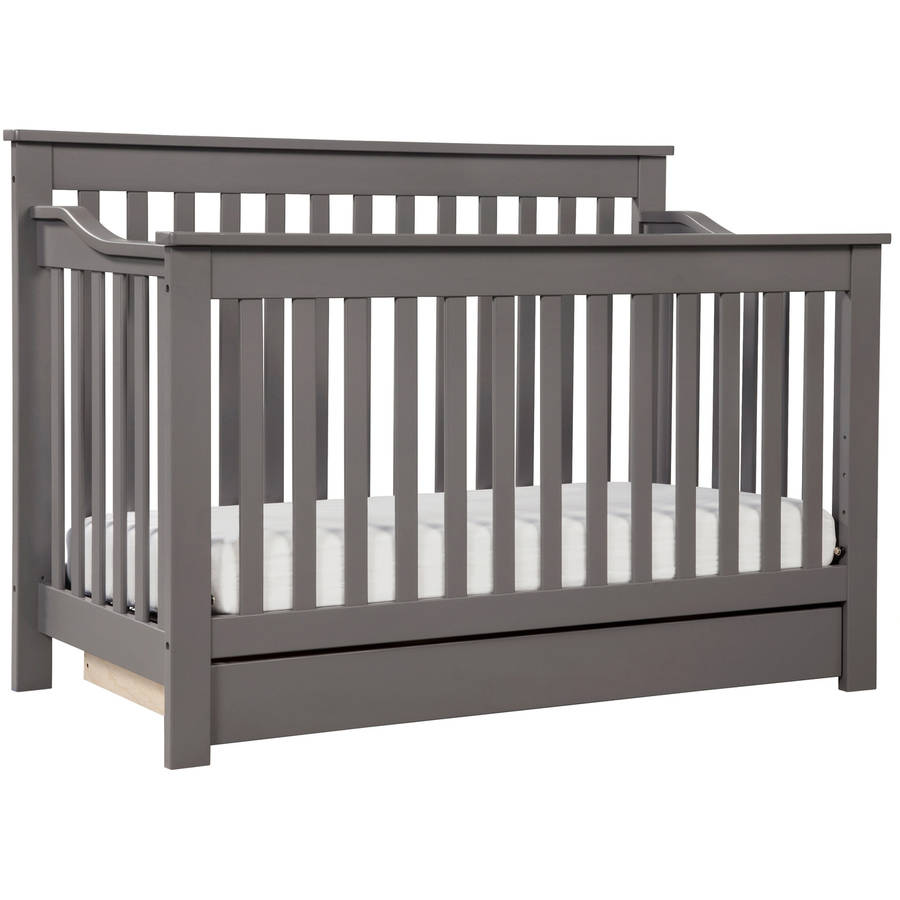 DaVinci Piedmont 4-in-1 Convertible Crib with Storage Slate