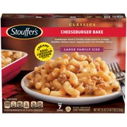STOUFFERS CLASSICS Cheeseburger Bake, Large Family Size Frozen Meal