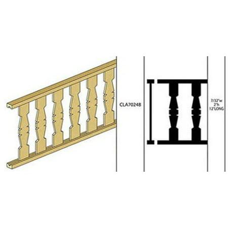 Porch Railing (Dollhouse Porch Railing, 2H X 12L, Flat Rails)