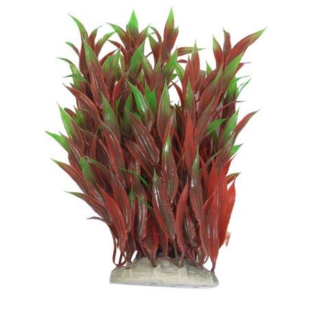 - Unique Bargains Emulational Red Green Plastic Plants for Aquarium Fish Tank