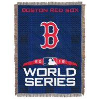 """MLB Boston Red Sox 2018 World Series Participants """"Top Runner"""" Woven Tapestry Throw Blanket"""