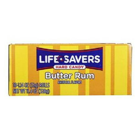 Lifesavers Butter RUM Hard Candy: 20 Rolls of 14 Pieces - Tj18