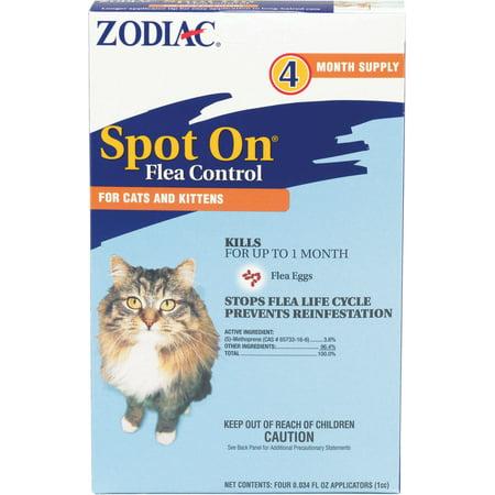 Farnam Pet-Zodiac Spot On For Cats & Kittens Over 2.5lbs/4 - Zodiac Cap