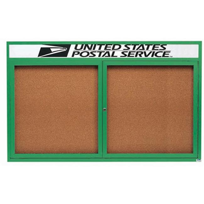 Aarco Products Enclosed Aluminum Bulletin Board with Header