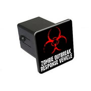 """Zombie Outbreak Response Vehicle 2"""" Tow Trailer Hitch Cover Plug Insert"""