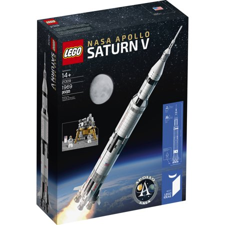 LEGO Ideas NASA Apollo Saturn V 21309 Space Model Rocket for Kids and Adults, Science Building Kit