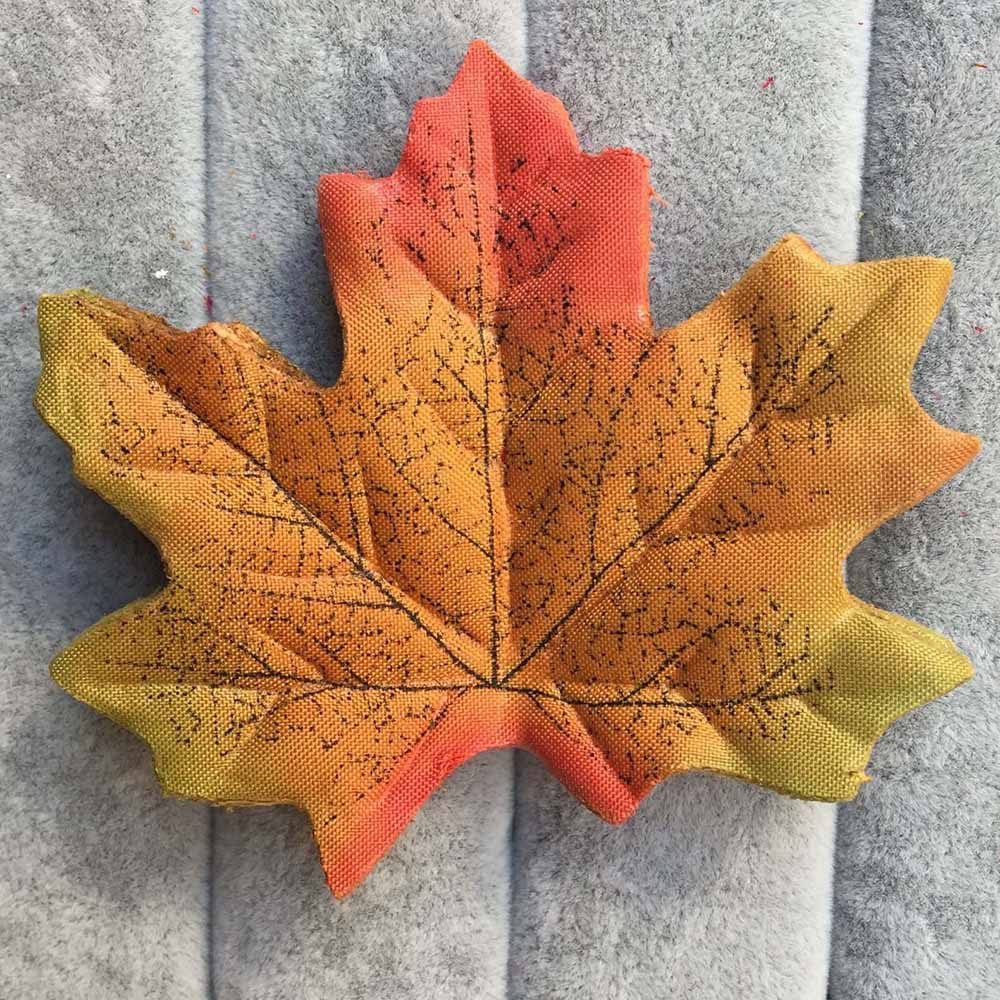 Artificial Silk Maple Leaves Multicolor Leaf For Scrapbooking Wedding Party