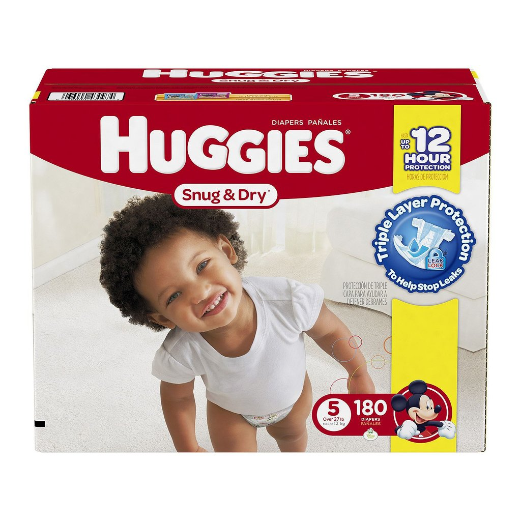 Huggies Snug & Dry Diapers ( Size 5 - 180 ct)