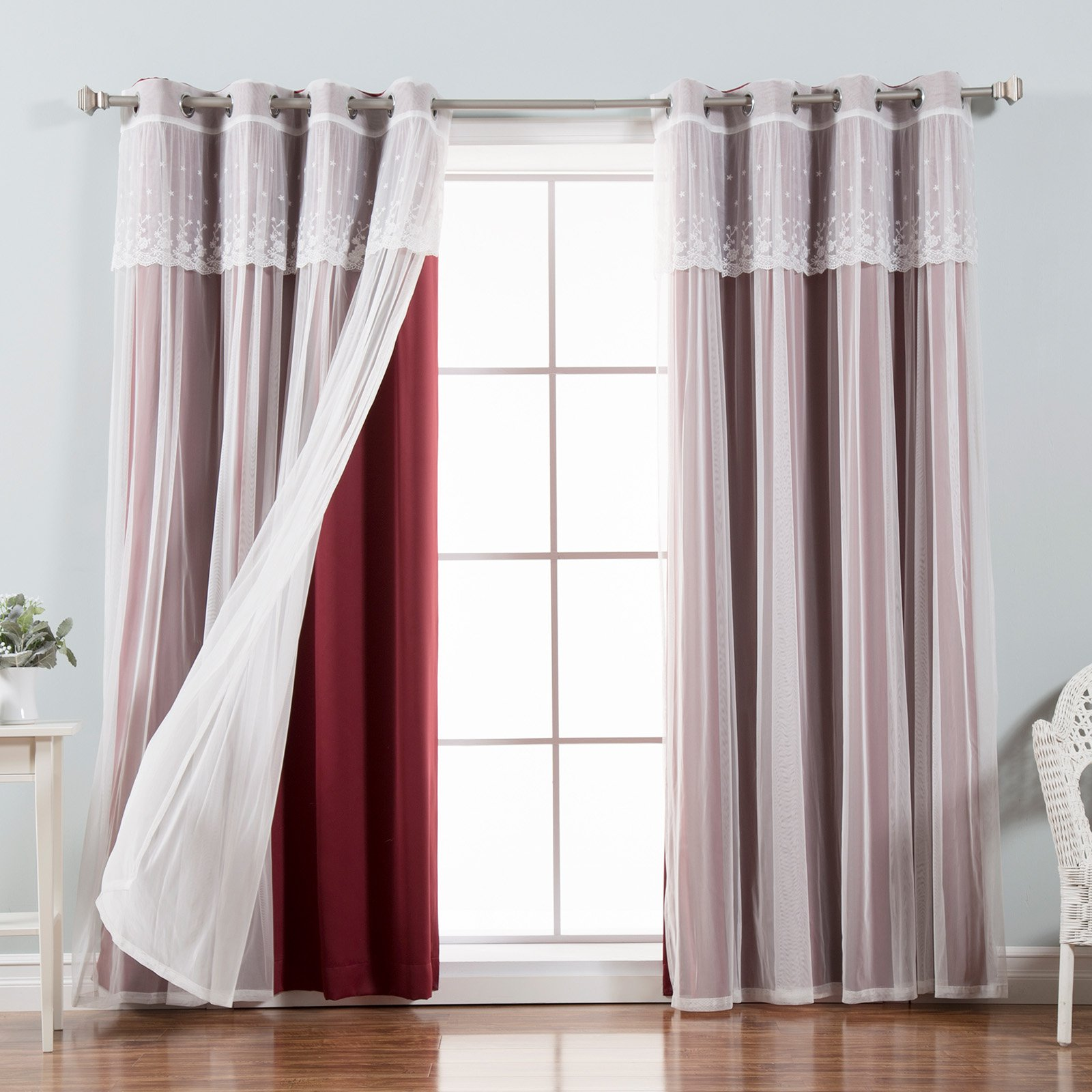 Best Home Fashion Mix ; Match Tulle Blackout Curtain with...