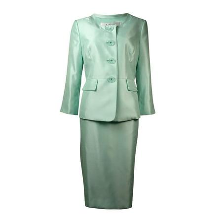 - Le Suit Women's The Hamptons Dupioni Slub Skirt Suit