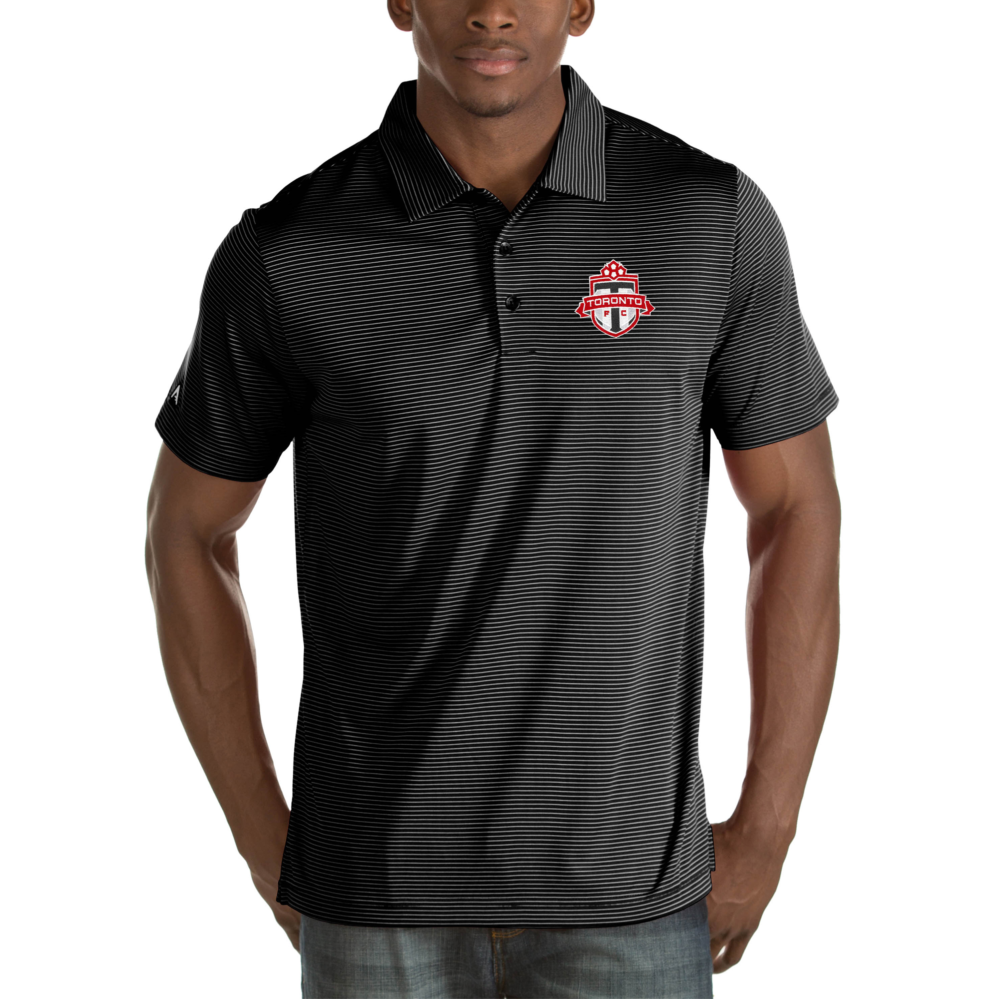 Toronto FC Antigua Quest Big & Tall Polo - Black