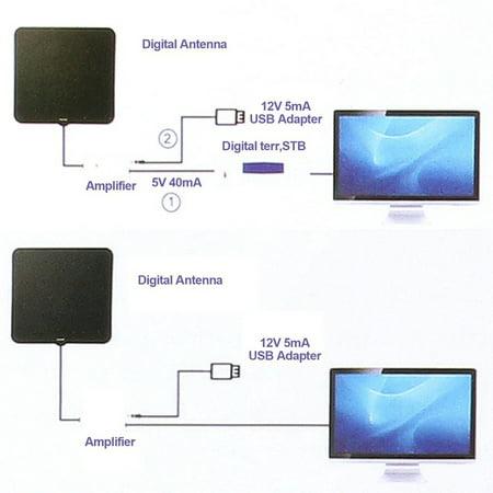TV Digital Antenna HDTV 50 Miles Reception Range Household Indoor TV Antenna UHF Television Aerial - image 5 of 6