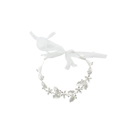 Fashion Jewerly Faux Pearl Flower Accented - Flower Tiara
