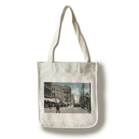 Portland, Oregon - Third and Morrison Street Corner View (100% Cotton Tote Bag -