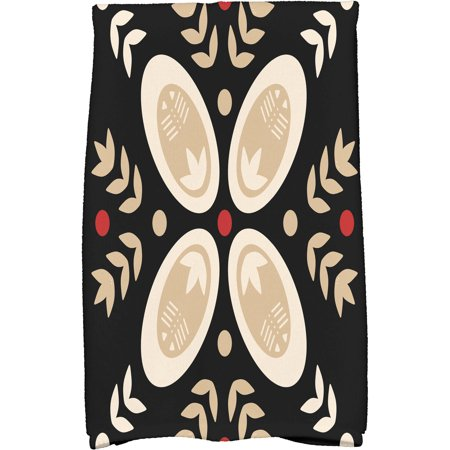 """Simply Daisy 16"""" x 25"""" Tradition Holiday Geometric Print Kitchen Towel"""