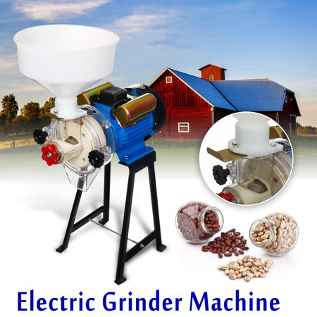 220V 2.2KW Electric Flour Mill Wet & Dry Grinder Grinding Machine For Corn Rice Grain Soymilk Coffee Wheat