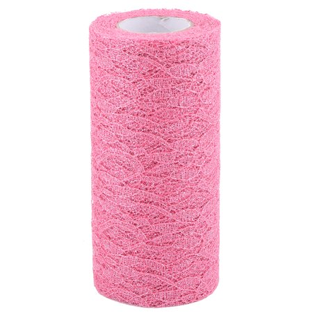 Home Party Polyester Decoration Tulle Spool Roll Hot Pink 6 Inch x 10 - Hot Pink Party Decorations