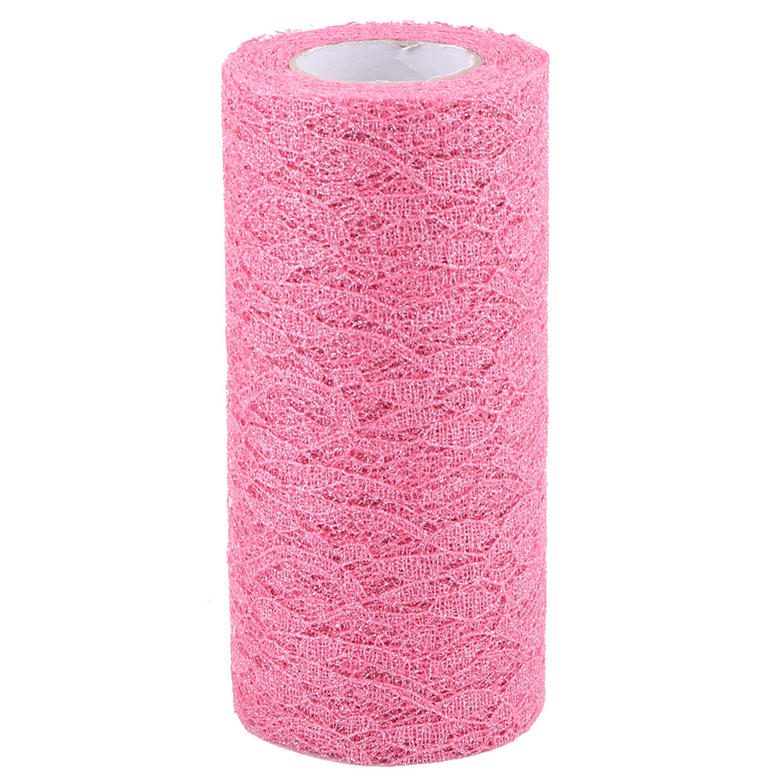 Home Party Polyester Decoration Tulle Spool Roll Hot Pink 6 Inch x 10 Yards