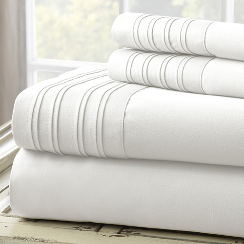 Amrapur Overseas Inc. Fine Linens 1000 Thread Count 4 Piece Sheet Set