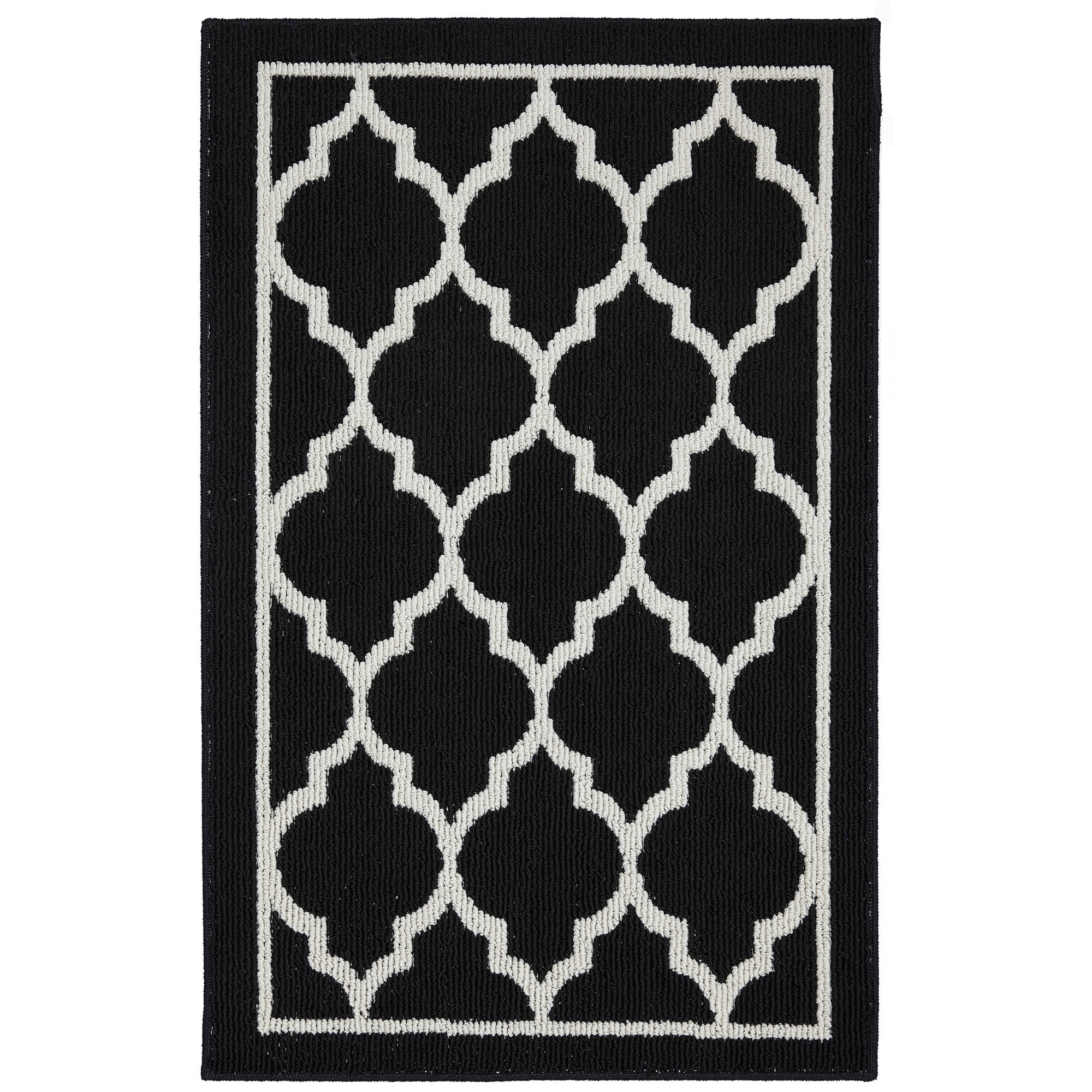 mohawk home chai tufted nylon rug black and cream walmart com