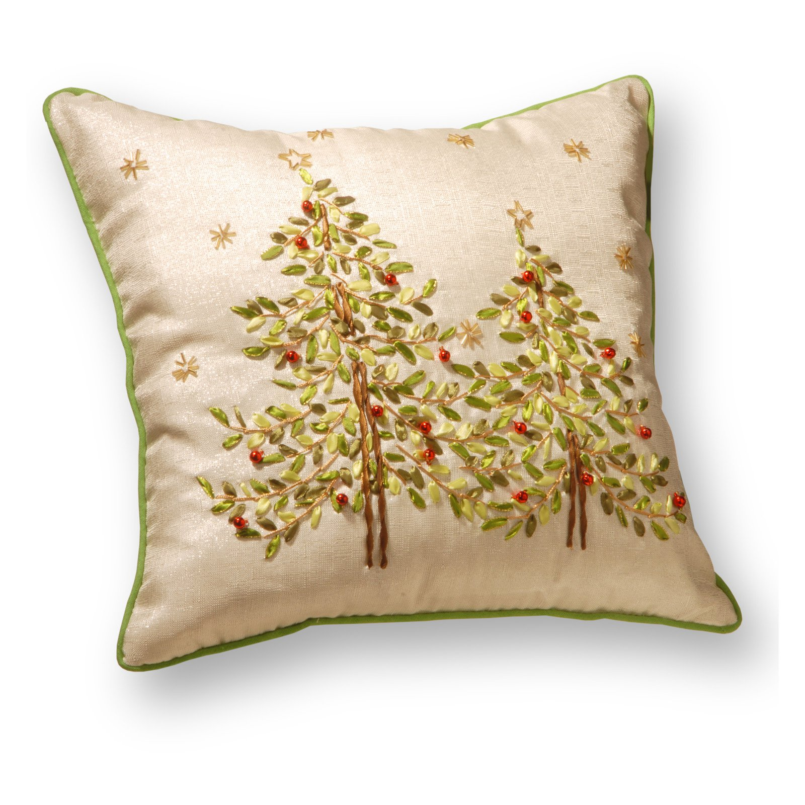 "16"" Christmas Trees Pillow by National Tree"