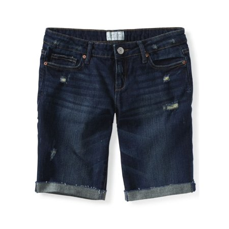 Aeropostale Juniors Destroyed Casual Bermuda Shorts 982 00 -
