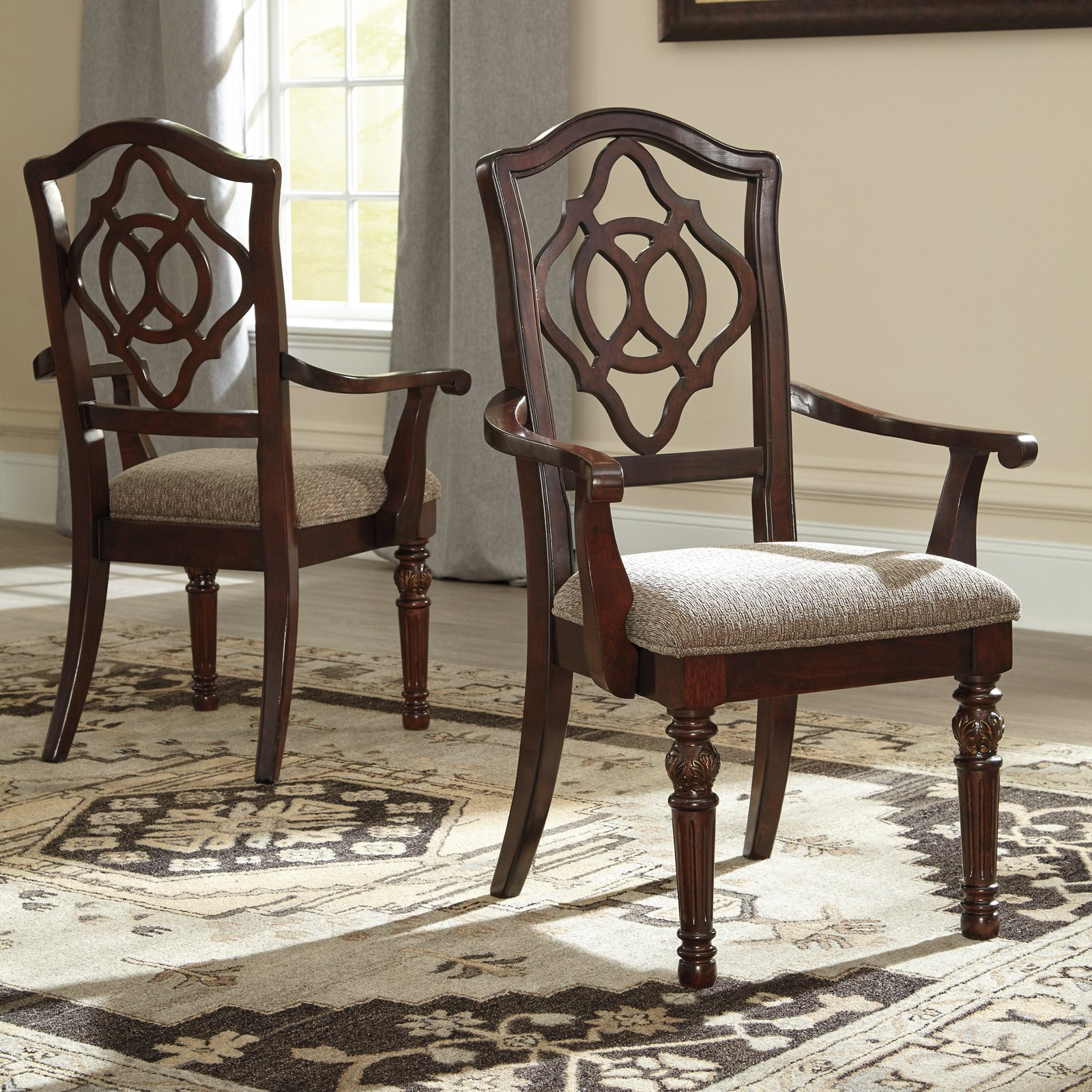 Signature Design by Ashley Leahlyn Arm Dining Chair - Set of 2