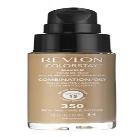 Revlon Colorstay Pump liquid foundation Combination/Oily, 350 Rich ...