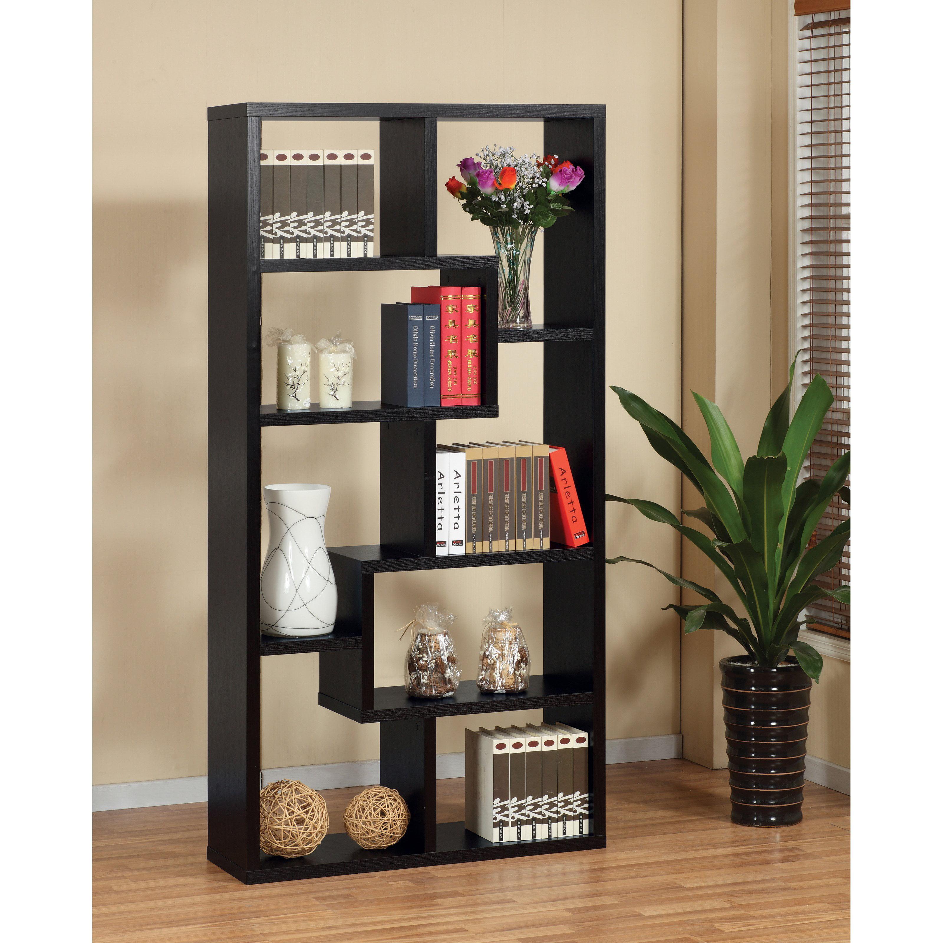 Decorative Display Cases Furniture Of America Verena Contoured Leveled Display Cabinet