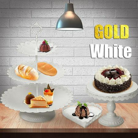 7Pcs/Set Crystal Metal Cake Cupcake Holder Stand Display Birthday Wedding Party (Cupcake Paper Holders)