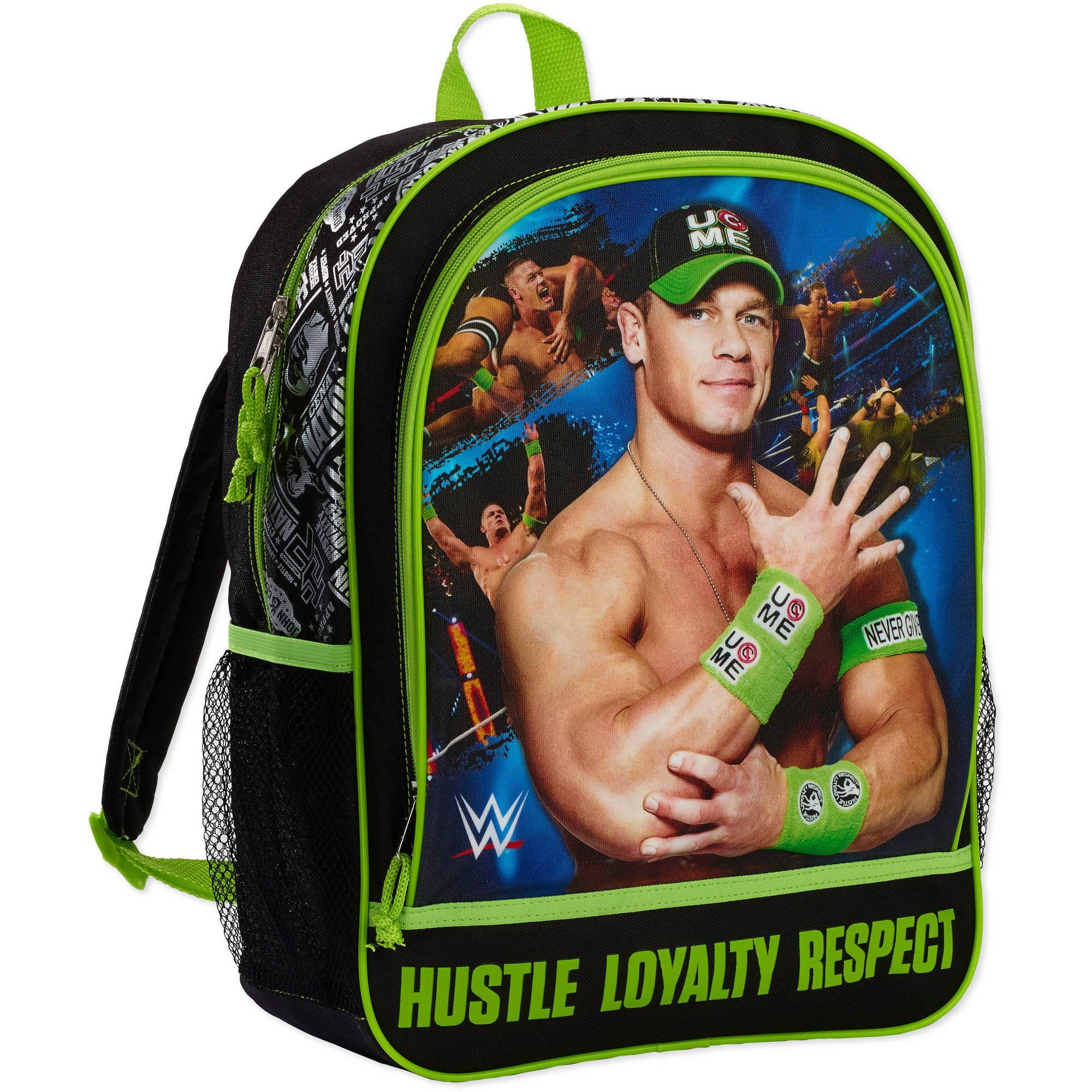 "WWE Boys John Cena 16"" Cargo Backpack - Green Black"