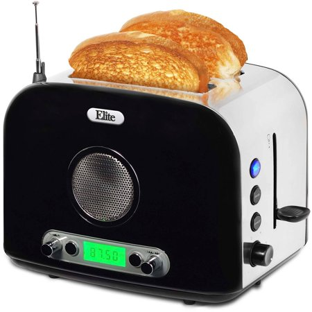 Elite Platinum 2-Slice Radio Toaster, Black