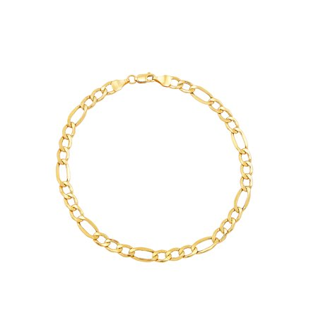 Brilliance Fine Jewelry 10K Yellow Gold Polished Figaro Link Bracelet, 8.5