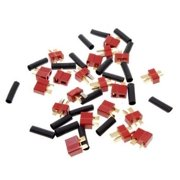 Excel RC Male and female T plug  Deans Style For RC LiPo Battery with Heat Shrink Tubing 1 Pair