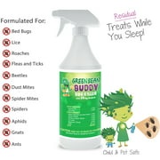 Bed Bug Killer That Works, Roach Killer, Flea and Tick Killer, Beetle, Mite Spray with Residual Protection, Child & Pet Friendly, 32oz