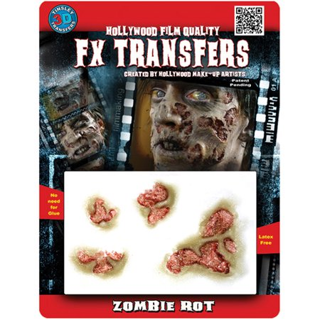 Zombie Rot 3D FX Adult Halloween Accessory (Fx Contact Lenses Halloween)