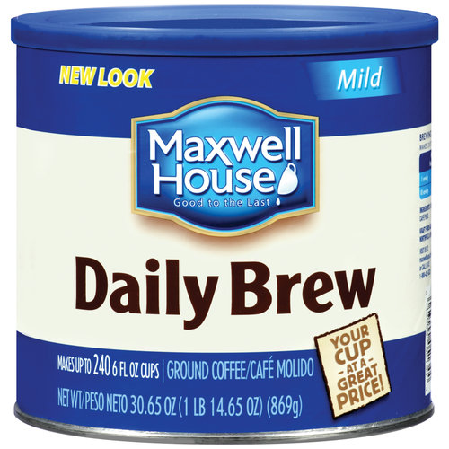 Maxwell House Daily Brew Mild Coffee, 30.65 oz