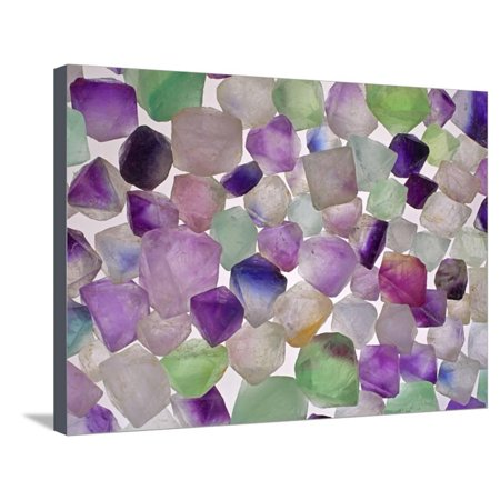 Fluorite minerals Stretched Canvas Print Wall Art By Walter Geiersperger