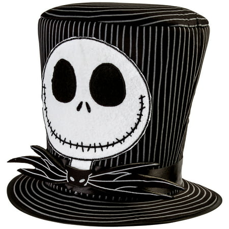 Party City Jack Skellington Top Hat Halloween Costume Accessories, One Size