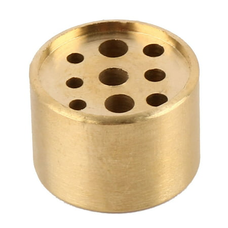 Household Living Room Metal Round Incense Stand Holder Container Gold Tone